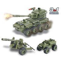 Brictek Army 8-Wheel Tank 3in1 203pcs Building Block Set #15033