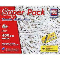 Brictek White Super Pack 400pcs Building Block Set #19019