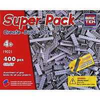 Brictek Grey Super Pack 400pcs Building Block Set #19021