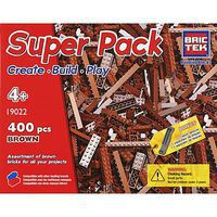 Brictek Brown Super Pack 400pcs Building Block Set #19022