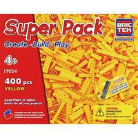 Brictek Yellow Super Pack 400pcs Building Block Set #19024