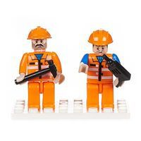 Brictek Mini Figurines Construction (2) Building Block Set #19206