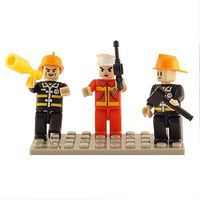 Brictek Mini Figurines Fire Brigade (3) Building Block Set #19304