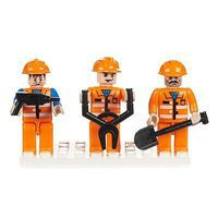 Brictek Mini Figurines Construction (3) Building Block Set #19305