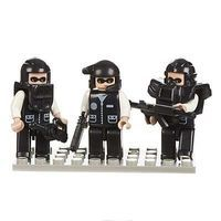 Brictek Mini Figurines Police Swat Team (3) Building Block Set #19307