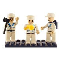 Brictek Mini Figurines Navy (3) Building Block Set #19310