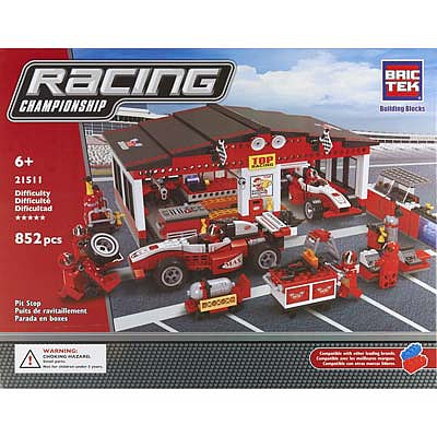 BRICTEK BUILDING BLOCKS Pit Stop 852pcs -- Building Block Set -- #21511
