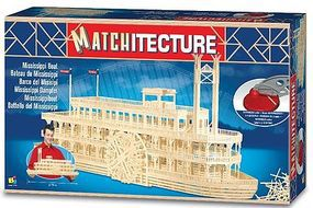 Bojeux Mississippi Paddlewheel Boat (4500pcs) Wooden Construction Kit #6630