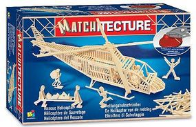 Rescue Helicopter (500pcs) Wooden Construction Kit #6646