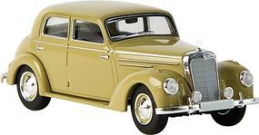 Berkina Mercedes Benz 220 Sedan Assembled Olive Yellow Model Railroad Vehicle HO Scale #13054