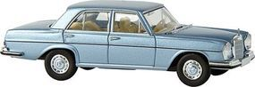 Berkina Mercedes 280 SE Sedan Assembled Metallic Gray Blue Model Railroad Vehicle HO Scale #13103