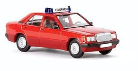 Berkina Mercedes Benz 190 E Assembled Fire Department (Red) Model Railroad Vehicle HO Scale #13204
