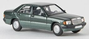 Berkina Mercedes Benz 190 E Sedan Assembled Metallic Green Model Railroad Vehicle HO Scale #13206