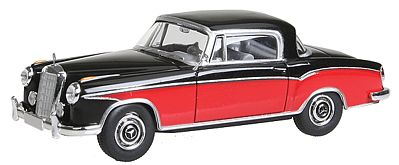 Berkina 1951-1954 Mercedes Benz 220 S Coupe Assembled Model Railroad Vehicle HO Scale #13504