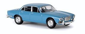 Berkina 1968 Jaguar XJ6 Sedan Assembled Pastel Blue Model Railroad Vehicle HO Scale #13650