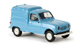 Berkina 1962-1988 Renault Fourgonnette Delivery Truck Blue Model Railroad Vehicle HO Scale #14711
