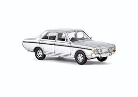 Berkina 1968-1971 Ford RS Sedan Assembled Silver & Black Model Railroad Vehicle HO Scale #19460