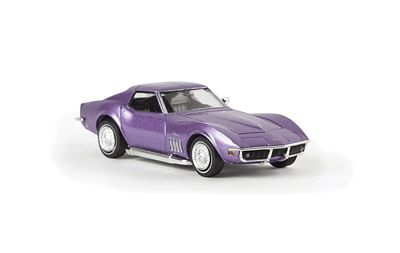 Berkina 1969 Chevrolet Corvette C3 Assembled Purple Model Railroad Vehicle HO Scale #19977