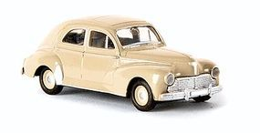 Berkina 1955-1967 Peugeot 203 Sedan Assembled Cream Model Railroad Vehicle HO Scale #29053