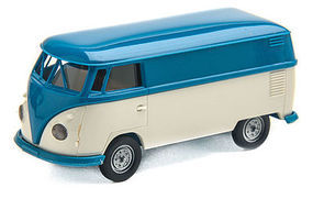 Berkina 1960-63 Volkswagen T1b Cargo Van Economy (blue/white) HO Scale Model Railroad Vehicle #32630