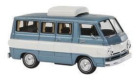 Berkina 1964 Dodge A 100 Passenger Van Assembled Light Blue Model Railroad Vehicle HO Scale #34307