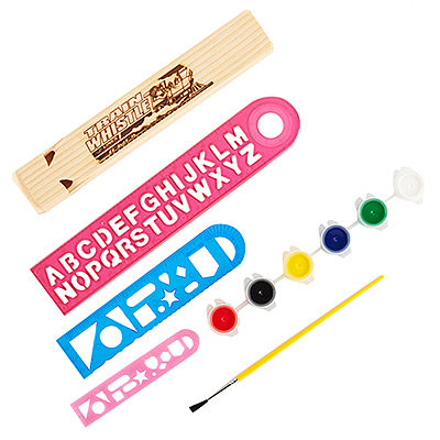 Brooklyn Peddler My Wooden 4-Tone Whistle Paint Kit