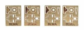 BLMS Non-Operating Signal Heads pkg(4) N Scale Model Railroad Trackside Accessory #1000