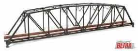 BLMS Assembled Brass 200 Truss Bridge - Black N Scale Model Railroad Bridge #2003