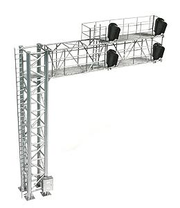 BLMA Modern Cantilever Signal Bridge Left Hand -- HO Scale Model Railroad Trackside Accessory -- #4030