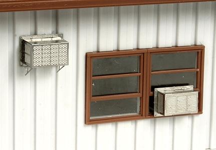 BLMS Window-Mounted Air Conditioner - Kit - pkg(12) HO Scale Model Railroad Building #4109