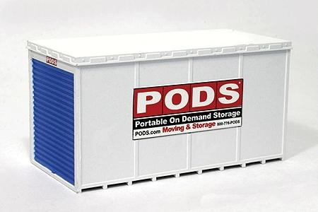 BLMA PODS(R) Moving & Storage Container -- HO Scale Model Railroad Building -- #4115