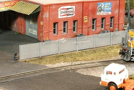 BLMS Chain Link Fence - Kit - 6/110 Scale Feet HO Scale Model Railroad Building Accessory #4210