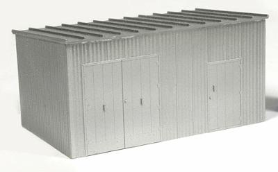 BLMA Trackside Equipment Shed -- HO Scale Model Railroad Trackside Accessory -- #4305