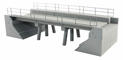 BLMS Concrete Segmental Bridge, Single Track, Plastic Kit HO Scale Model Railroad Bridge #4390