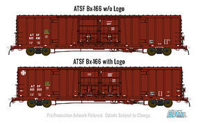 BLMS 60 Double Door Boxcar ATSF #621566 HO Scale Model Train Freight Car #53012