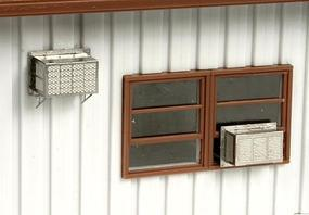BLMS Window-Mounted Air Conditioners - Kit - pkg(12) N Scale Model Railroad Building Accessory #609