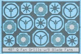 BLMS Fan Grill 48 Q Fan 8 blade N Scale Model Railroad Scratch Supply #85
