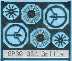 BLMS Fan Grill 36 with Center Plate N Scale Model Railroad Scratch Supply #87