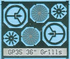 BLMS Fan Grill 36 without Center Plate Model Railroad Scratch Supply #88