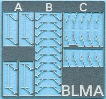BLMS Windshield Wipers 3 styles N Scale Model Railroad Scratch Supply #96