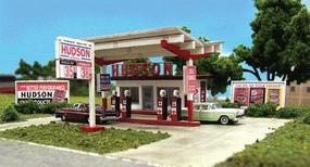 Blair-Line Hudson Oil Gas Station, Laser Cut Wood Kit N Scale Model Railroad Building #1002
