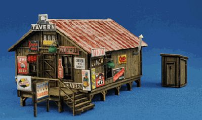 Blair Line Sam's Roadhouse w/Outhouse - Kit -- N Scale Model Railroad Building -- #1003