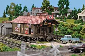 Blair-Line Greenes Feed & Seed - Laser-Cut Wood Kit N Scale Model Railroad Building #1005
