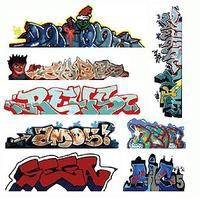 Blair-Line Mega Set Modern Tagger Graffiti Decals - #3 pkg(8) N Scale Model Railroad Decal #1246