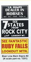 Blair-Line Barn Sign Decals - Set #2 N Scale Model Railroad Decal #1251