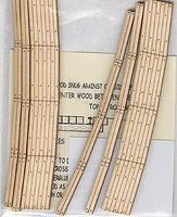 Blair-Line Curved 2-Lane Wood Grade Crossing 15 Radius HO Scale Model Railroad Trackside Accessory #125