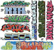 Blair-Line Graffiti Decals - Mega Set #11 N Scale Model Railroad Decal #1260