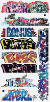 Blair-Line Graffiti Decals Mega #13 N Scale Model Railroad Decal #1262