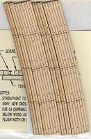 Blair-Line Curved 2-Lane Wood Grade Crossing Kit HO Scale Model Railroad Trackside Accessory #127