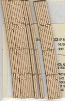 Blair-Line Curved 2-Lane Wood Grade Crossing (2) HO Scale Model Railroad Trackside Accessory #130